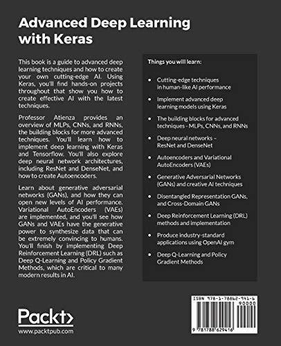 Advanced Deep Learning with Keras: Apply deep learning techniques, - Ebook  PDF Version