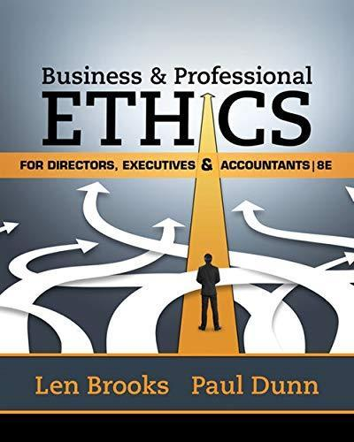 Business & Professional Ethics for Directors, Executives & Accountants 8th  - PDF Version