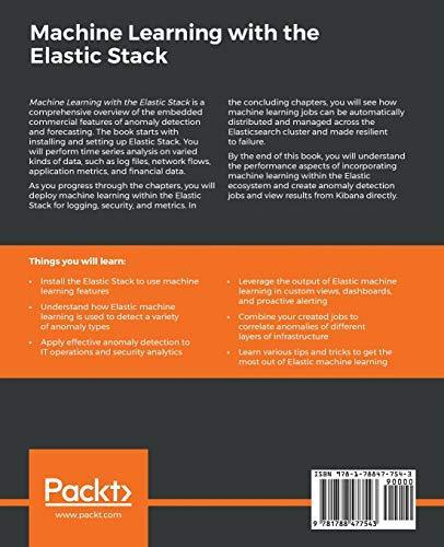 Machine Learning with the Elastic Stack: Expert techniques to integrate -  PDF Version
