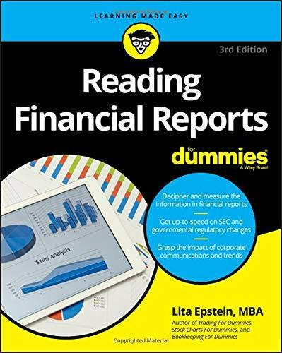 Reading Financial Reports For Dummies (Learning Made Easy (Business & - PDF  Version